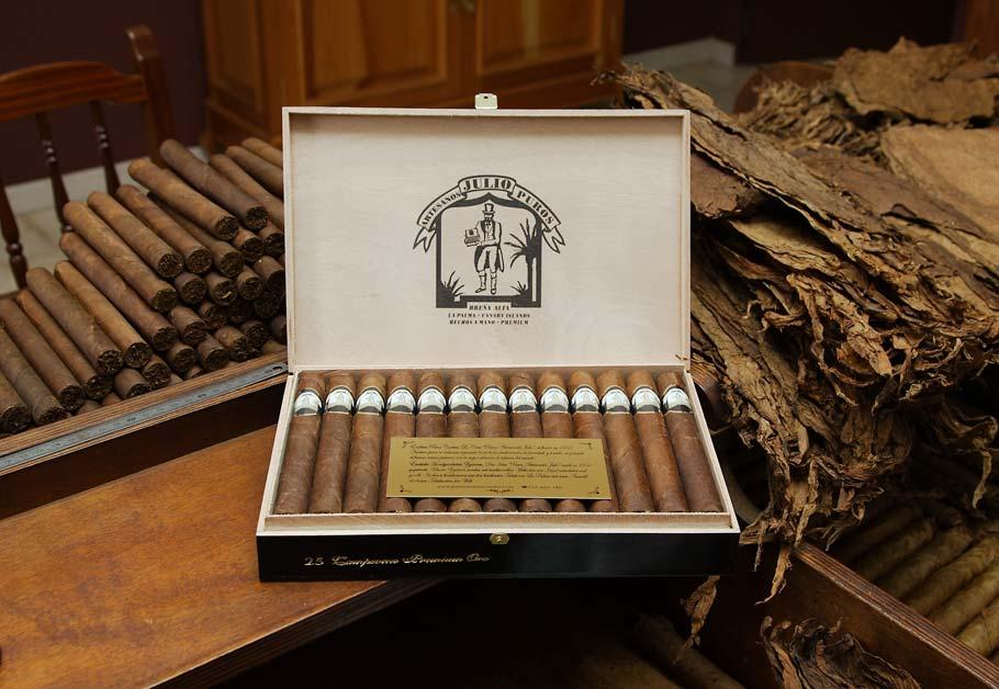 Puros Palmero Artesano Julio Premium Breña · Tabaco hecho en La Palma · Canarias