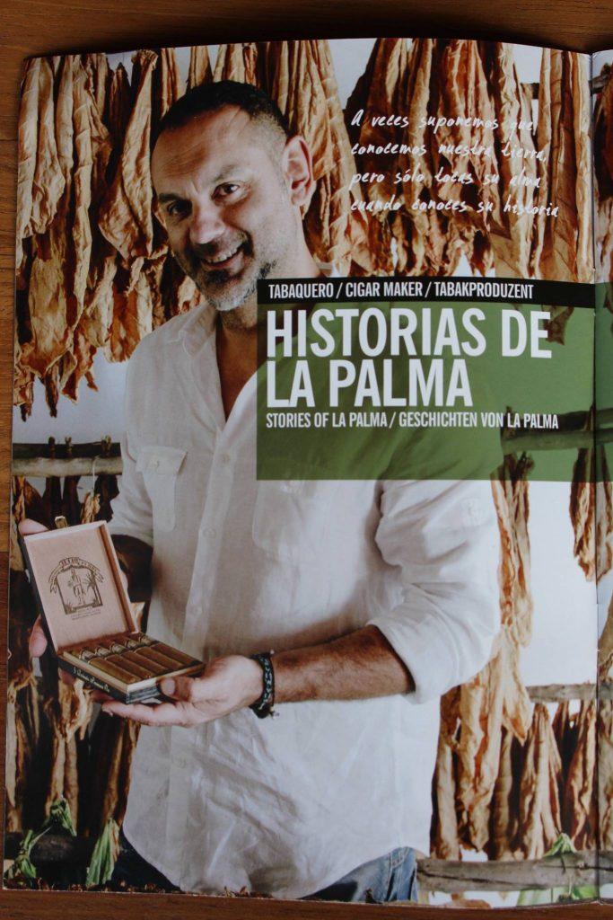 Puros Artesanos Julio promociona La Isla de La Palma en el catálogo turístico oficial
