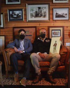 Entrevista para el Diario Palmero junto al artista Ismael Francisco Sánchez